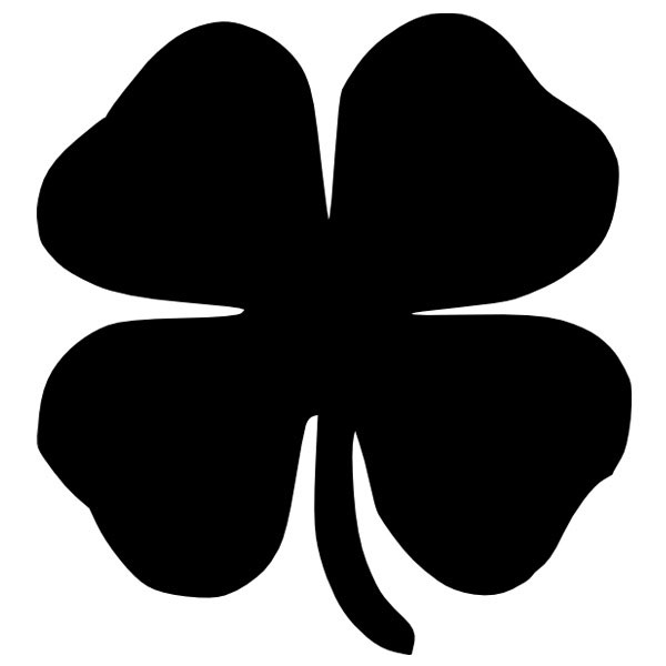 four leaf clover ironon decal decal design shop